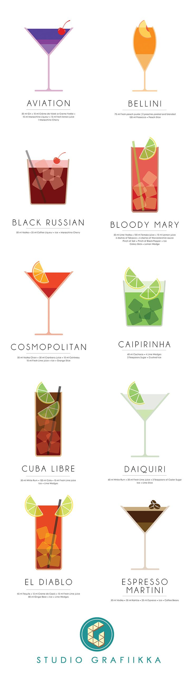 Minimalist Cocktail Illustrations Vol-1, by designer Sreejith V, Studio Grafiikka.