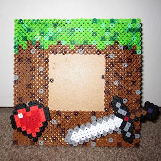 Minecraft perler bead frame