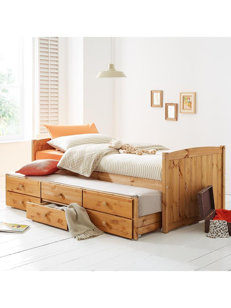 Kidspace Georgie Single Storage Bed + Pull-out Guest Bed | very.co.uk
