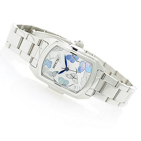 638-943 - Invicta Women's Baby Lupah Quartz Mother-of-Pearl & Crystal Accented Stainless Steel Bracelet Watch