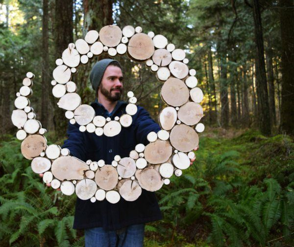 wanddekoration selber machen natur spirale
