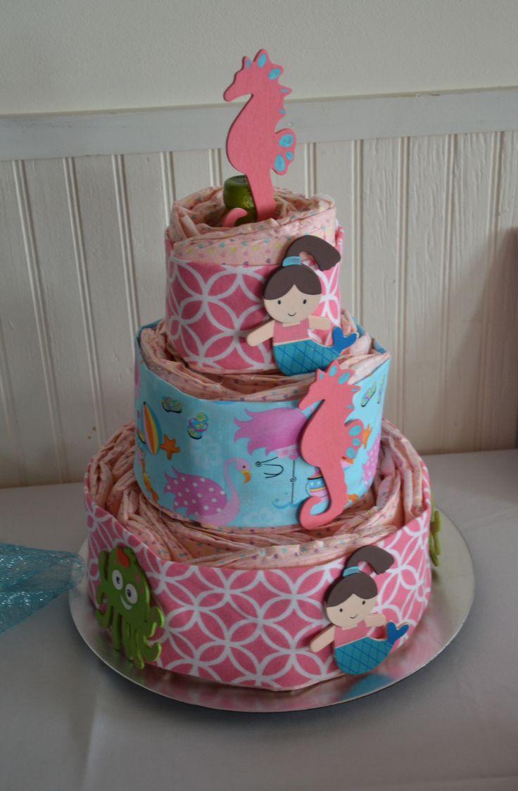 mermaid diaper cake mermaid baby shower pinterest mermaids