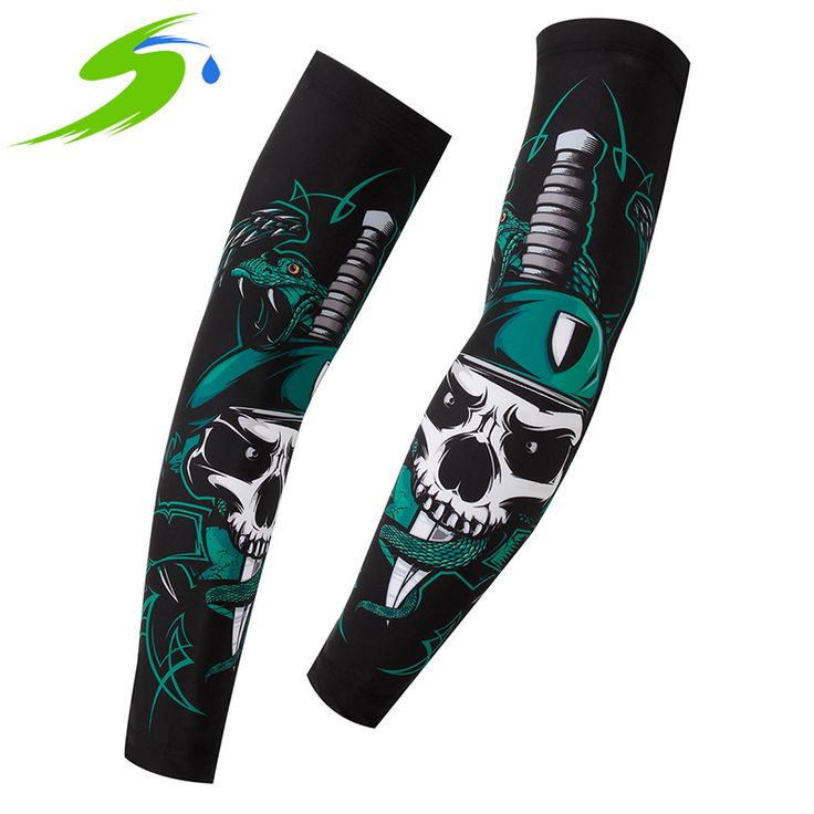 Running Cycling Arm Warmers Bicycle Compression Arm Sleeves Sun UV Protection Basketball Sports Bike Cycling Armwarmers Sb028 #CLICK! #clothing, #shoes, #jewelry, #women, #men