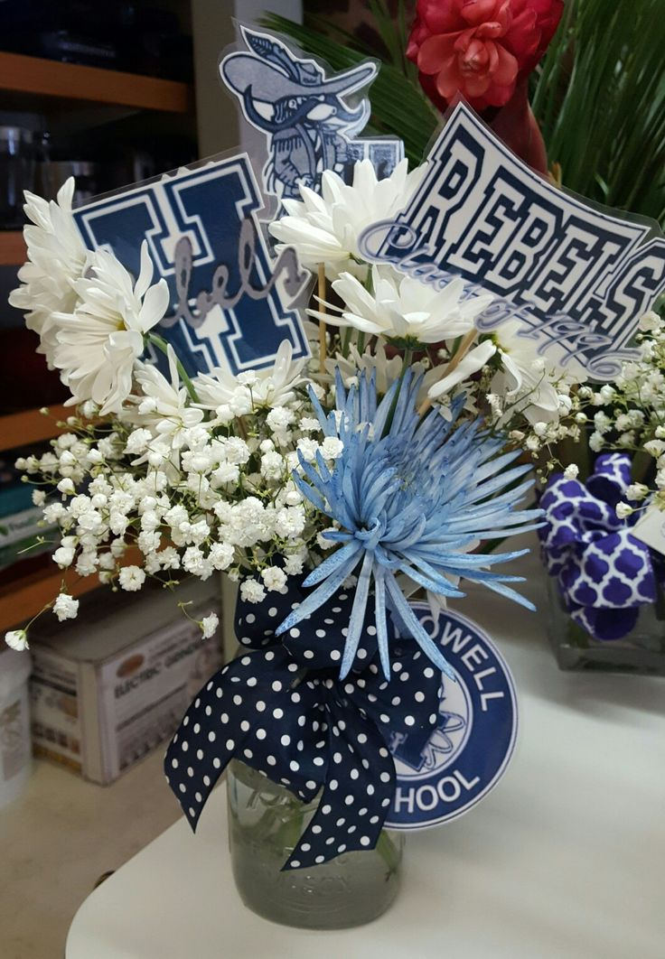 HHS - high school reunion centerpieces
