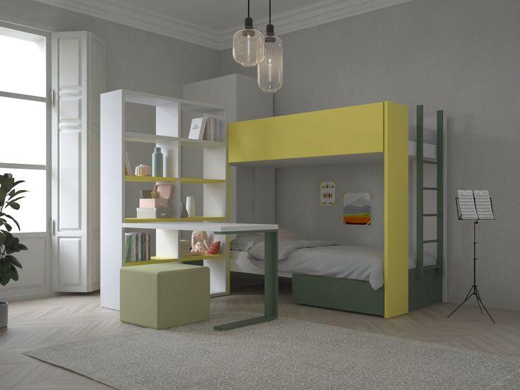 25 beste idee n over stapelbed bureau op pinterest zolder stapelbedden trap lades en stapelbed - Stapelbed kleine kamer ...