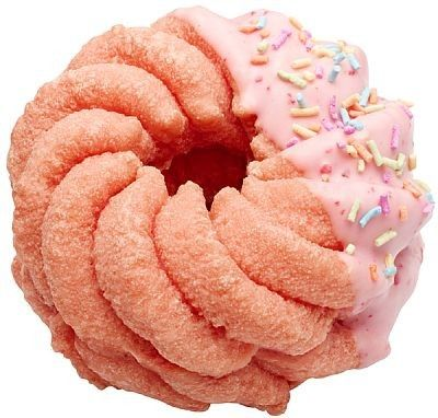 Cherry blossom (Sakura) coloured donut with strawberry whipped cream - Mister Donut (Japanese donut shop)