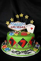 18 best vegas cakes images on Pinterest Anniversary cakes