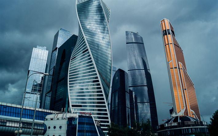 Lataa kuva Moskovan Kaupungin, liikekeskukset, pilvenpiirtäjiä, Moskova, Venäjä, moderni arkkitehtuuri, moderneja rakennuksia, Venäjän Federaation