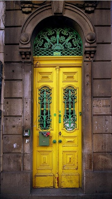 Yellow and turquoise doors