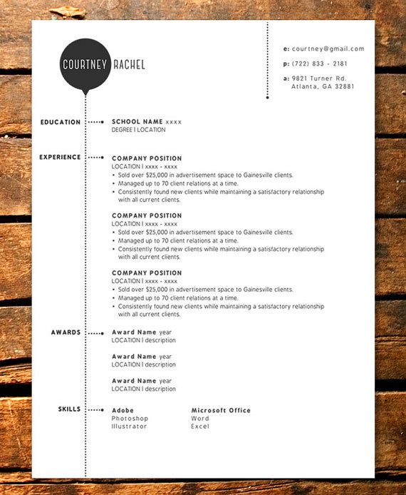 bubble resume template