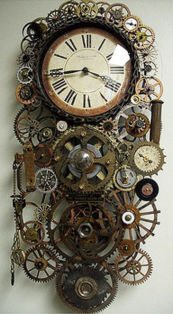 "Steampunk Clock | ... love a good steampunk clock. And the whole ""Steampunk Movement"