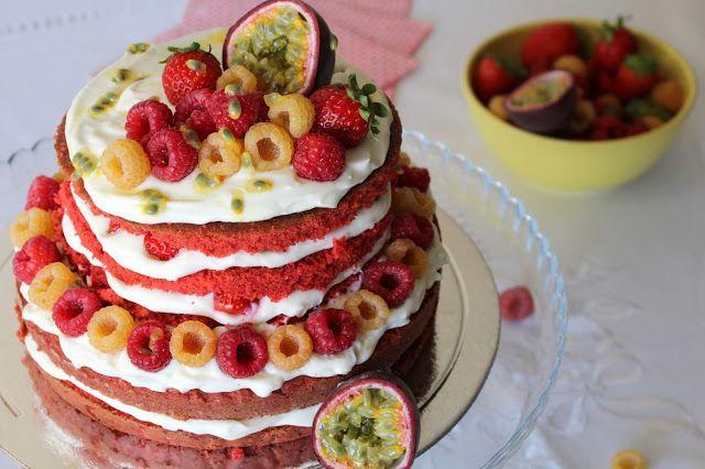 Red Velvet Naked Cake - suculento, cremoso e saboroso!