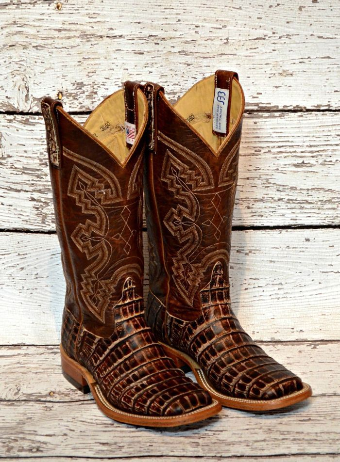 Anderson Bean Caiman Boots from Mule Barn.