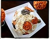 Natural/Rustic Cream and Tan Sola Flower Bouquet LARGE- Bride, Bridesmaid, Bridal Bouquet, Shabby Chic Wedding, Rustic Wedding. $75.00, via Etsy.