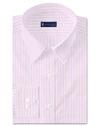 Buy sailor pink formal shirt for men online with perfect fit guaranteed. Personalize your style with the range of custom stripe shirts by Vitruvien®.