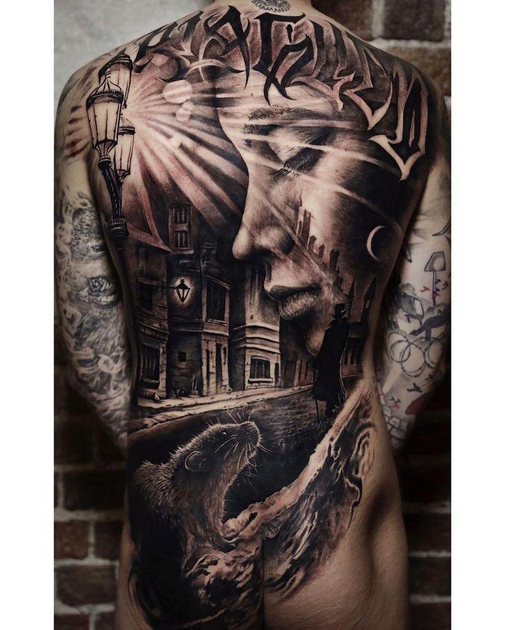 Body Tattoo S Deep Back Mural Tattoo Power 3 Tattoos