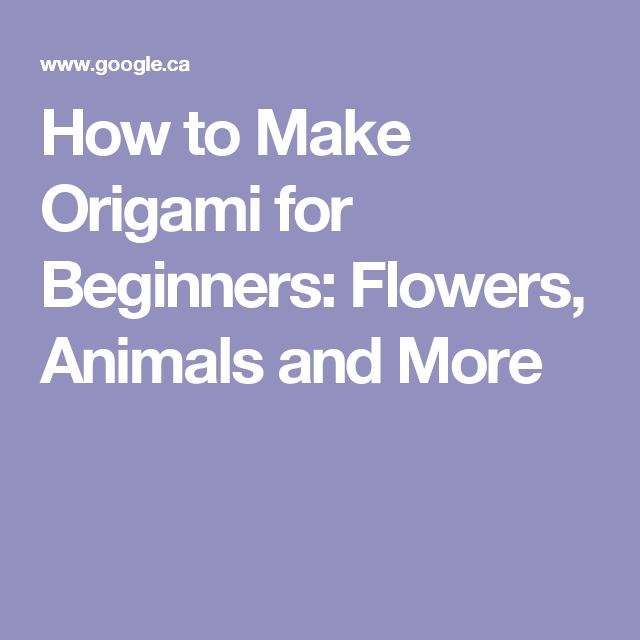 25 best ideas about origami for beginners on pinterest
