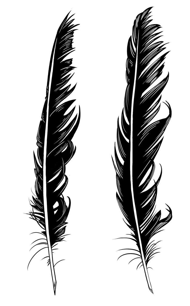 Crow Feather Tattoo Designs by dirtyinks.deviantart.com on @DeviantArt