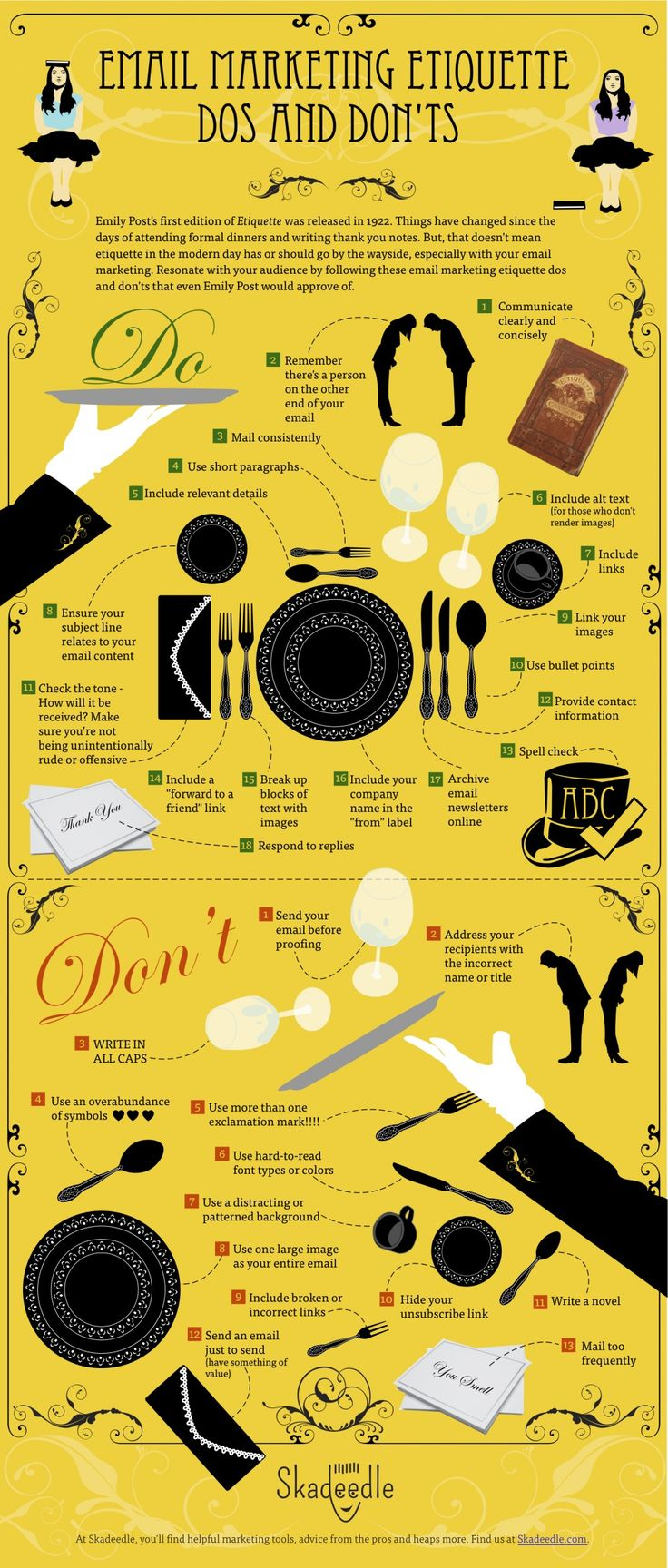 Email Marketing Etiquette Dos and Dont's Infographic www.socialmediamamma.com