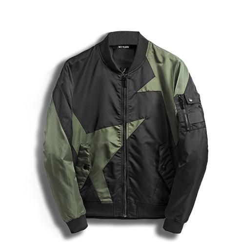 BOYUAN Bomber Jacket Men Spliced Casual Fashion Mens Coats Spring Autumn Regular Pilot Jackets Wind Breaker Jacket Men DSW189