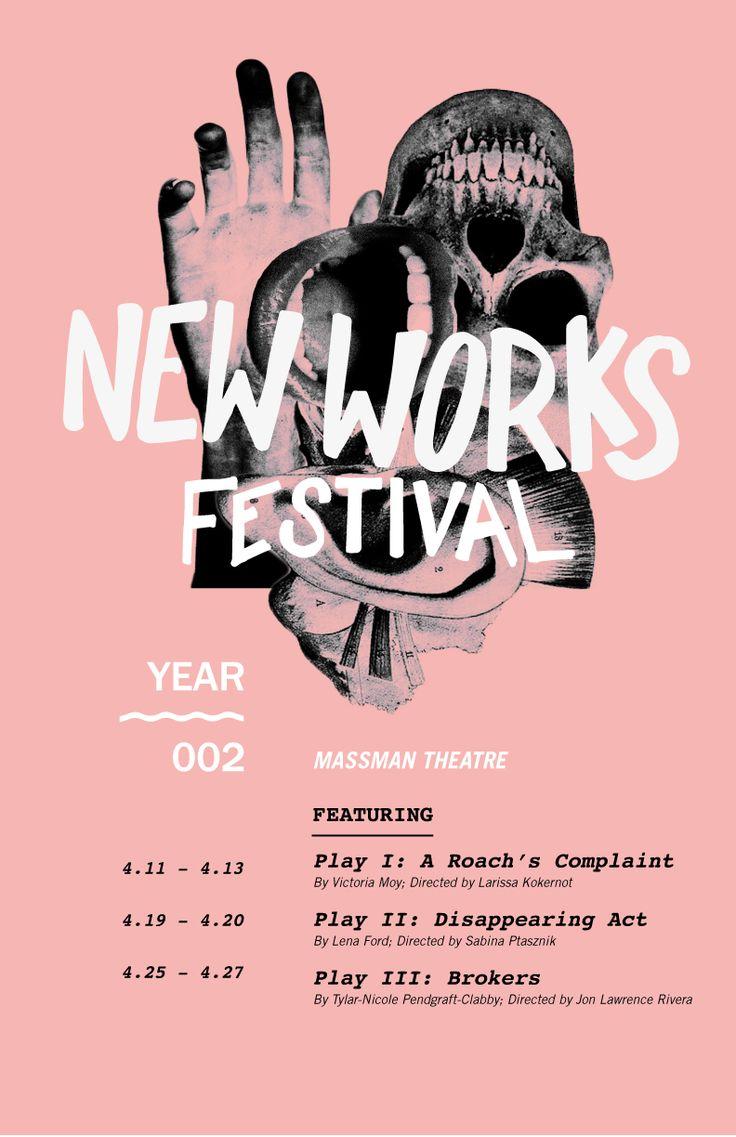 Design poster 70x100 - New Works Festival By Lauren Allik