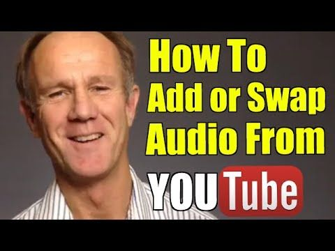 how to add audio to youtube