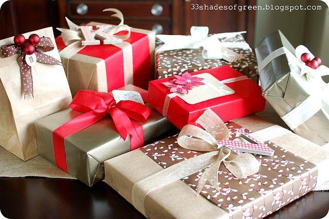 CHRISTMAS WRAPPING IDEAS | Pretty Christmas gift wrapping ideas | Christmas