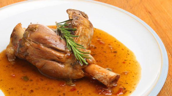 Tangy Onion Glazed Lamb Shanks | Steven and Chris | An easy dish to prepare, Chef Voula's flavourful lamb shank recipe is a dinner party favourite. Serve individual shanks over celery root mash or mashed potatoes with a scoop of the tasty onion sauce. Serves 6 2 to 3...