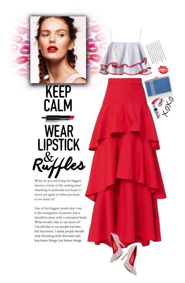 """""""Ruffles"""" by mmk2k ❤ liked on Polyvore featuring MDS Stripes, TaylorSays, House of Fraser, Givenchy, Ciaté, tops, ruffles and ruffledtops"""