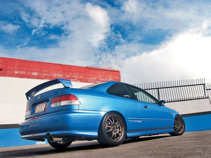 Htup 0803 10 o+1999 honda civic si coupe+side view