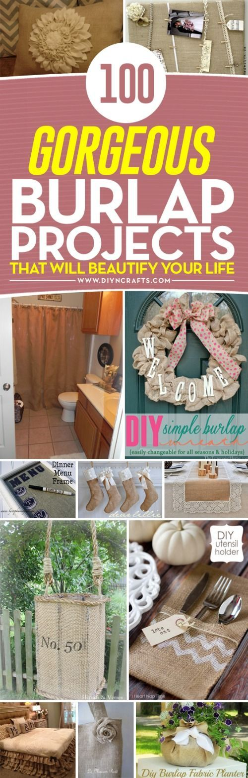 100 Gorgeous #Burlap #Projects that will Beautify Your Life via @vanessacrafting