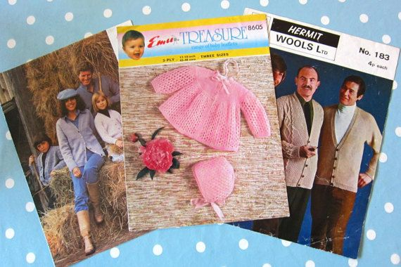 REDUCED Vintage knitting pattern. NOT PDF. by thevintagemagpie01