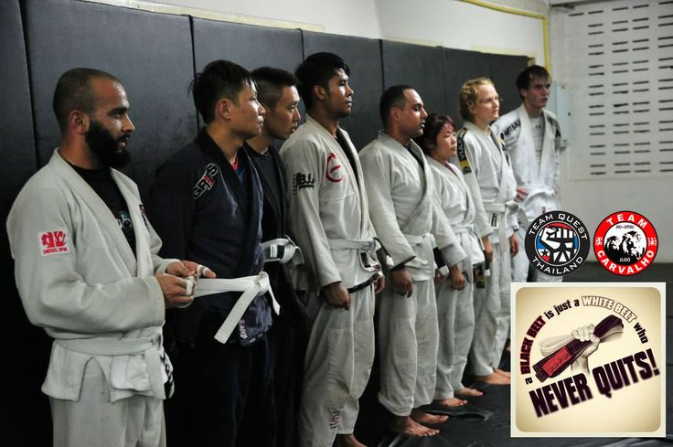 A #BJJ Black Belt is just a White Belt that never quit. Now for a limited time, when you pay for 1 month BJJ training receive 50% off the normal price of 4000 thb/month, NOW ONLY 2000 thb/month (About $56/month) and learn from 3rd degree BJJ Black Belt professor Bruno Carvalho. http://tqmmathailand.com/  #teamcarvalho