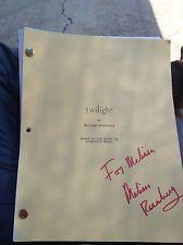 Autographed Twilight Script Screenplay Stephanie Meyer Melissa Rosenberg