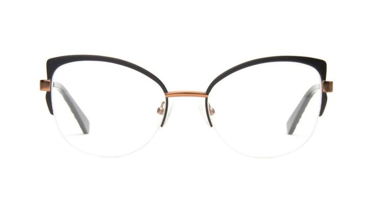 Affordable Fashion Glasses Cat Eye Eyeglasses Women Adore Black Copper Front