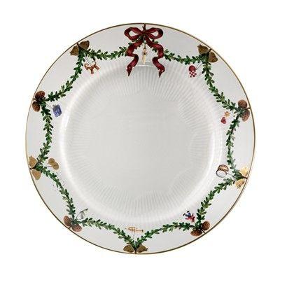 Royal Copenhagen Stjerne Riflet Jul tallerken 27 cm