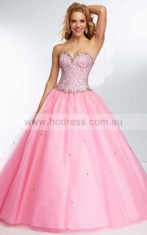 Sleeveless Sweetheart Lace-up Tulle Floor-length Formal Dresses zyh210--Hodress