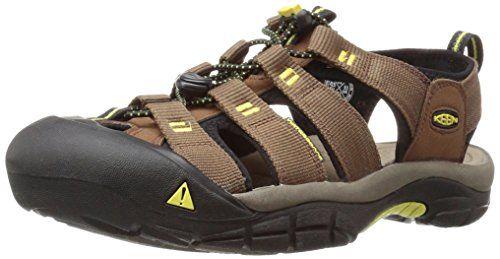 KEEN Men's Newport h2 Sandal, Dark Earth/Acacia, 10.5 M US