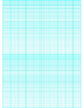 This semi-logarithmic, or semi-log, graph paper with 60 divisions (sixth accent) by 2 cycle segments helps when performing a semi-log plot to visualize data that has an exponential relationship. Ideal when graphing variables when there is a large range of values on one axis. Free to download and print