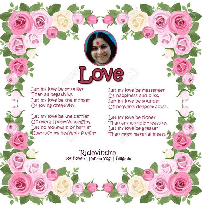 Love- A poem by Ridavindra Jos Boven   Sahaja Yogi   Belgium
