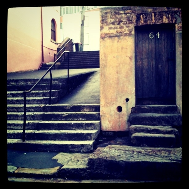 The famous door 64 at the Rocks.