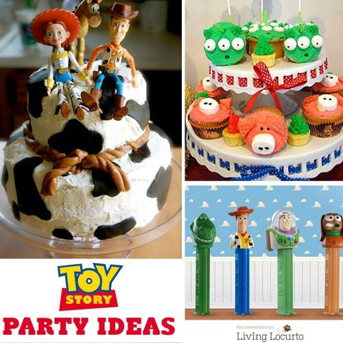 Toy Story Birthday Party ideas! Cute Woody, Buzz Light Year and the gang themed cakes, cookies, cupcakes, free party printables, party favors, crafts and kid games! LivingLocurto.com