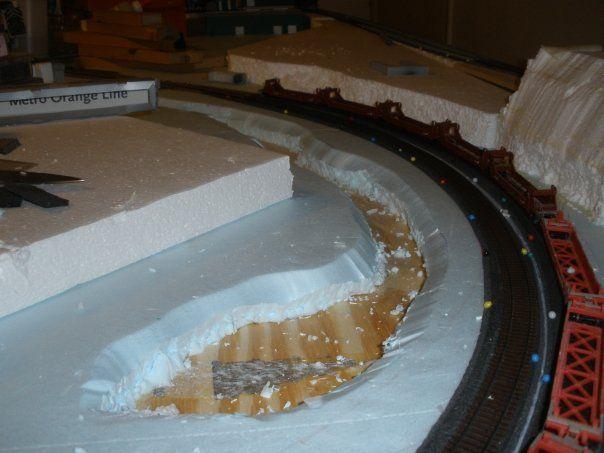 construction, foam, layout, scenery
