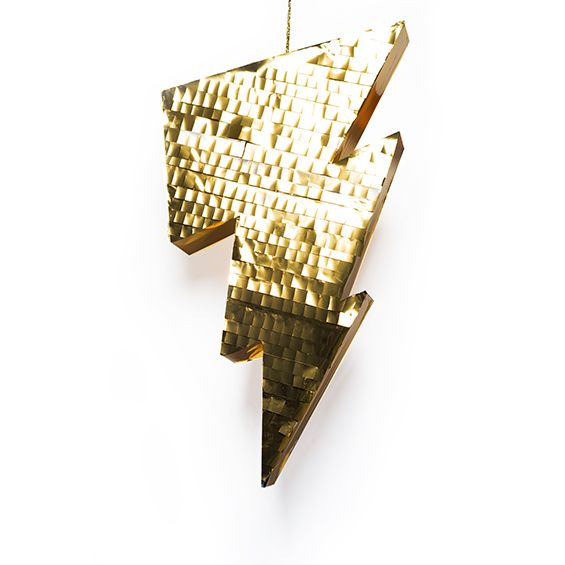 Large Gold Metallic Lightning Bolt Pinata - Our creative team at Fantasy Party can custom-make these for you!