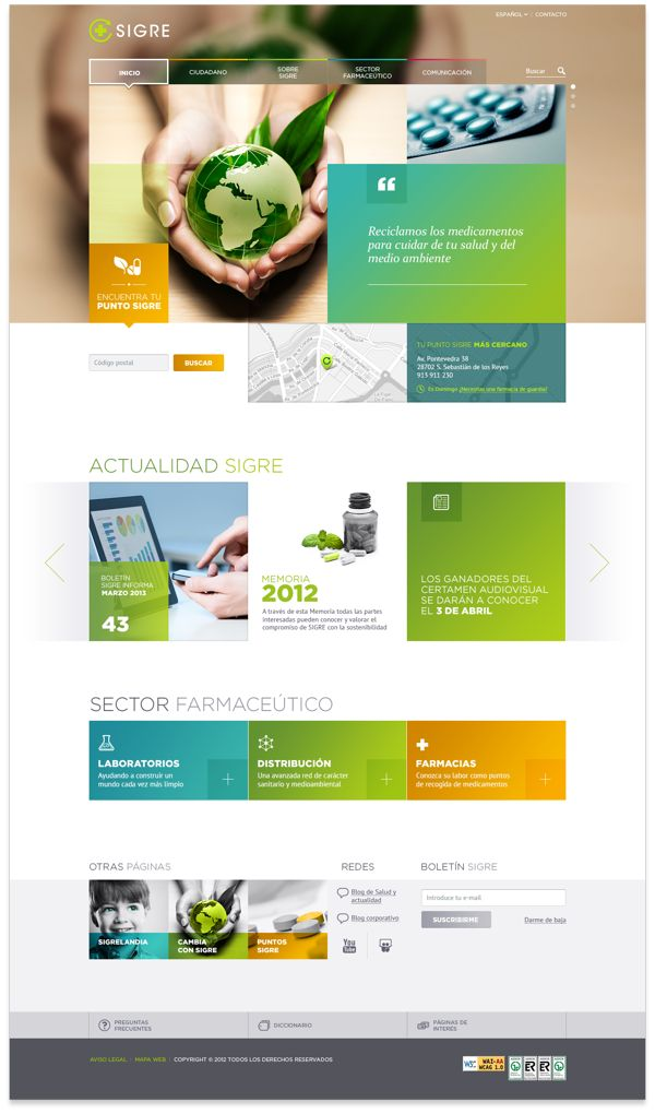 SIGRE Website on Behance