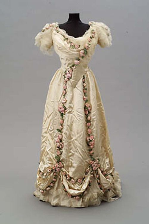 Rose Trimmed Debutante Evening Dress, ca. 1907Jean-Philippe...