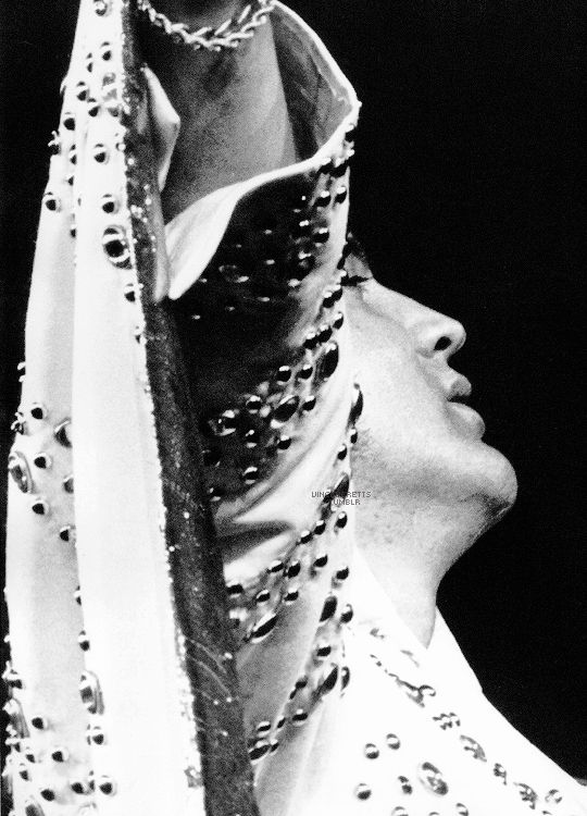 Elvis photographed on stage at the Nassau Coliseum, Long Island, June 24, 1973.