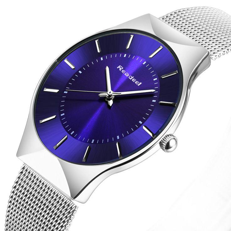 Readeel Hombre WatchesTop Marca de Lujo Reloj de Acero Inoxidable de Las Mujeres Analógicas Deportes Relojes de Cuarzo de Los Hombres Relojes de Pulsera Relogio Feminino