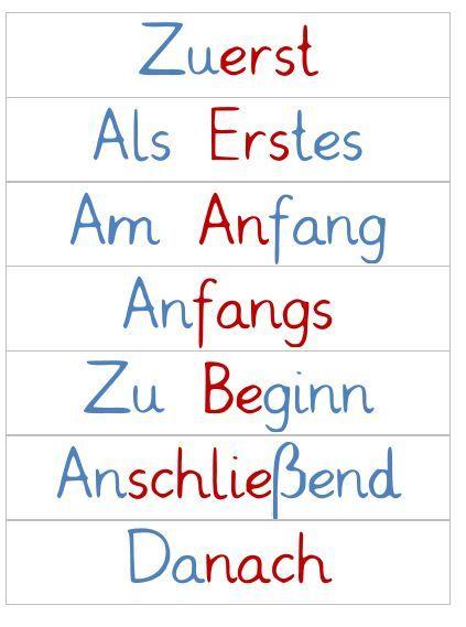 Da ich morgen das Thema Satzanfänge bearbeite, habe ich noch schnell drei Hängefächer mit entsprechenden Wortkarten erstellt. Die kennen mei...