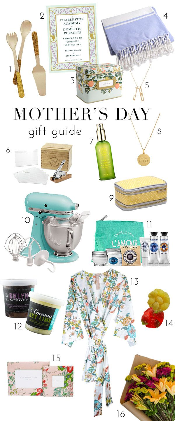 Gift Guide: What to give your mom for Mother's Day!